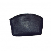Laurige Leather Make-up Purse-Navy Blue