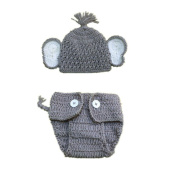 For Baby,YOYOUG 2pcs Newborn Stretchy Knit Photo Baby Hat+Shorts Costume Photography Props