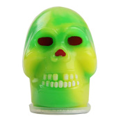 Auwer 1PC Barrel Slime Halloween Skull Shape Fluffy Putty Plasticine Sludge Clay Toy Squeeze Stretch Goo Silly Gag Prank Party Favours Joke Stress Relief No Borax Novelty Funny Kids Gift Toy