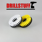 2 Piece, Soft & Medium drillbrush-Power Scrubbing Brush Drill Attachment for Cleaning Showers, Tubs, Bathrooms, Tile, Grout, Carpet, Tyres, Boats by Drillstuff