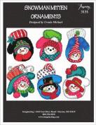 Snowman Mittens (Chart 3131) Cross Stitch Chart and Free Embellishment