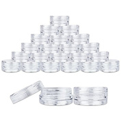 VNDEFUL 25PCS New,, Empty, Clear, 5 Gramme Plastic Pot Jars, Cosmetic Containers