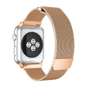 Apple Watch Band, Enow Fully Magnetic Closure Clasp Mesh Loop Milanese Stainless Steel Bracelet Strap for Smart iWatch Sport & Edition 38mm & 42mm