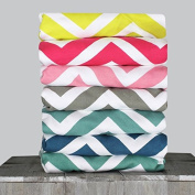 Magnolia Organics Chevron Crib Sheet - Standard, Super Lemon