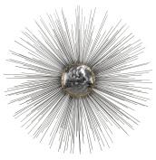 Nickel / Gold Silver Sun 70cm .H X 120cm .W Metal Wall Decor