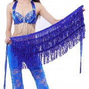 Best Dance Belly Dance Dancer Costume Sequin Tassel Fringe Hip Scarf Belt Waist Wrap Skirt