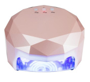 HappyBeauty Nail Lamp, 48W CCFL LED Nail Dryer Eye & Skin Friendly Portable Quickly Dry Machine for Curing Gel with 10sec/20sec/30sec Timers for Nails Art Salon Home Use