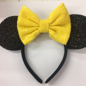 Yellow Belle Mickey Ears, Disney Ears, Disneyland Ears, Yellow Minnie Ears, Yellow Ears, Minnie Mouse Ears,