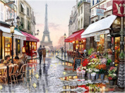 TianMai Hot New DIY 5D Diamond Painting Kit Crystals Diamond Embroidery Rhinestone Painting Pasted Paint By Number Kits Stitch Craft Kit Home Decor Wall Sticker - Eiffel Tower Paris City, 40x30cm