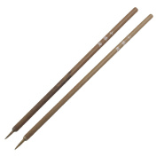 Home Mart Wood Shaft Painters Painting Tool Artist Brushes, 2 Pieces, Brown