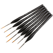 Dainayw Paint Brushes Set, 7 Sizes Detail Paint Brush for Miniature Art Watercolour Acrylics Oil