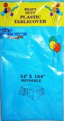 Heavy Duty Plastic TableCover Reusable Turquoise 140cm x 270cm