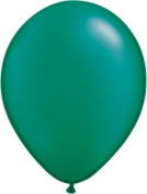 28cm Party Style Shimmer Green Helium Balloons