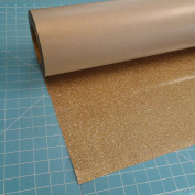 Siser Glitter Old Gold 50cm x 3m Iron on Heat Transfer Vinyl Roll, HTV