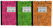 Norcom Wide Ruled 100 Sheet Composition Notebooks ~ Pack of 3