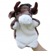 Children appease Storytelling large animals Hand puppet bull