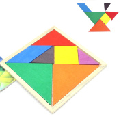 IDS Wooden Tangrams Puzzles Colourful Educational Toys for Kids