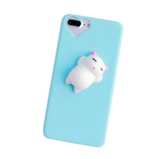 GBSELL Cute Squishy 3D Lazy Cat Soft Back Case Cover for iPhone 7 Plus