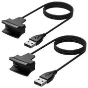 Cablor Fitbit Alta Charger,2PCS 1m Replacement USB Charging Charger Cables for Fitbit Alta Band Wireless Activity Bracelet