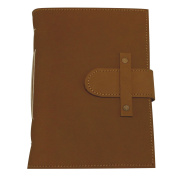 13cm x 18cm Handmade Leather Bound Journal with . Durable Privacy Latch for Men and Women--Sketchbook-Notebook-Record Book