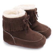 Baby Gril Soft Sole Snow Boots Soft Crib Shoes Toddler Tassels Boots