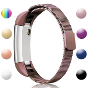 For Fitbit Alta and Alta HR Magnetic Bands, Konikit Band Milanese Loop Stainless Steel Metal Replacement Bracelet Strap, Wristbands Accessories for Women Men