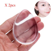2 pcs Water Droplets Transparent Silicone Puff - Leoy88 Novelty Silicone Anti-Sponge Makeup Applicator Blender Perfect For Face Make Up
