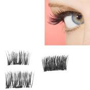 2017 NEW Magnet Eyelashes Iusun Ultra-thin 0.4mm 3D Reusable False Magnet Eyelashes Extension