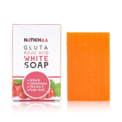 Glutathione & Kojic Acid Whitening Soap - Natural Skin Lightening - Deeply Nourish Your Skin & Reduce Roughness - Remove Dead Skin Cells & Acquire A Smooth Facial & Body Complexion