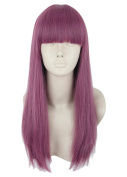 Topcosplay Long Straight Anime Cosplay Wig Natural Halloween Costumes Wig Purple