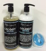 Renpure Coconut Water Hydrating Shampoo 950ml, Conditioner 950ml and AJ shampoo Brush
