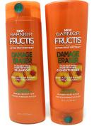 Garnier Hair Care Fructis Damage Eraser Shampoo (370ml) and Conditioner (350ml) Set