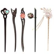 Dovewill 5pcs Vintage Women Lady Retro Vintage hair stick Headwear Hair Accessories