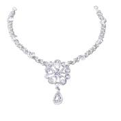 Yilanair Sparkly Wedding Rhinestone Pearl Flower Tiara Headband for Women