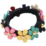 Hair band,Lotus.flower New Flower Mix Candy Colour Cute Girl Elastic Hair Ties Rope Ponytail