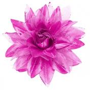 Sancto Lilac Glitter Flower Hair Clip