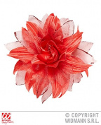 Sancto Red Glitter Flower Hair Clip