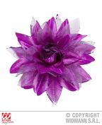 Sancto Purple Glitter Flower Hair Clip