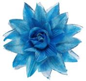 Sancto Azure Glitter Flower Hair Clip