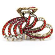 Women's Metal Rhinestones X-Large Claw Hair Clip hair pin bridal clip by beautyxyz