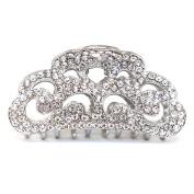 Metal Large Women Rhinestones Crystal Hair Claw Clip hair jaws bridal hair clamp by beautyxyz