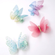 Baby Girls Hair Clips, Handmade All-Cover 3D Chiffon Butterfly Shape Hairpin , Do Not Hurt The Hair, Baby Hair Clips, 4 Pcs