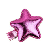 Leather Shiny Accessories Girls Star Stlye Hairpins Kids Accessories Hair Clip