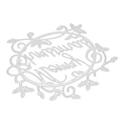 Hua-fang Merry Christmas DIY Cutting Dies Mental Template Stencil for Scrapbooking Album Paper Card