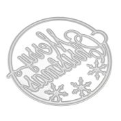 Hua-fang Merry Christmas DIY Sled Cutting Dies Mental Template Stencil for Scrapbooking Album Paper Card