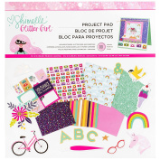 American Crafts Shimelle Glitter Girl 33 Sheet x 30cm Project Pad