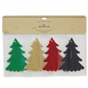 Hallmark Tie-On Gift Tags Christmas Trees Glitter 4-count