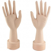 Eseewigs Practise Manicure Nails Hand and Practise Flexible Mannequin Hand Nail Display with Soft Fingers