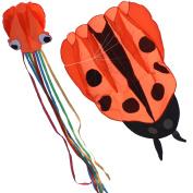 Huge Ladybug Kite + 70cm Octopus Kite with Line Flying Tools