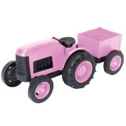 Green Toys Tractor Vehicle Toy, Pink, 30cm x 14cm x 12cm